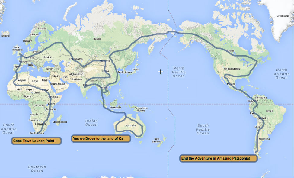 The Worlds Longest Most Epic Road Trip Planet And Go - Argentina highway map
