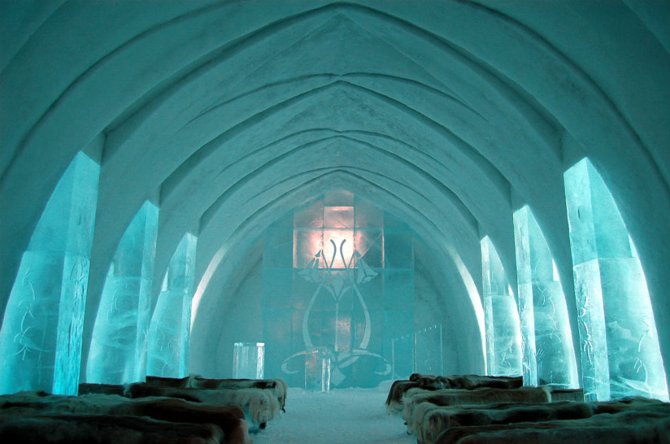 Most Unique Places to Stay Ice Hotel